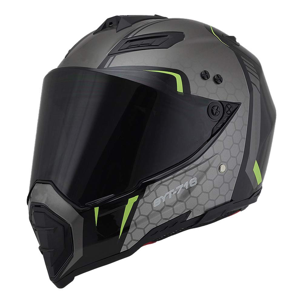 S, White Woljay Dual Sport Off Road Motorcycle helmet Dirt Bike ATV D.O.T certified