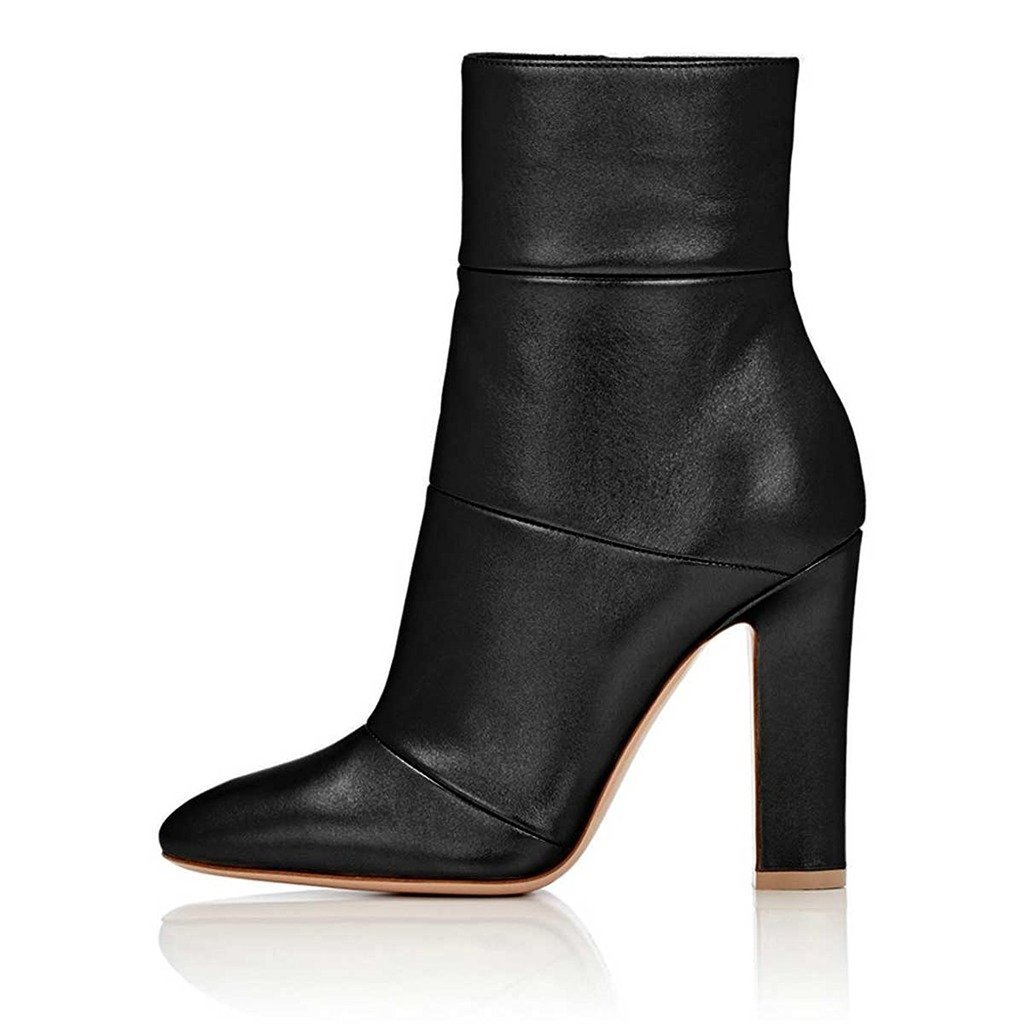 b656b9917f78 ... FSJ Women Retro Chunky High Heel Ankle Ankle Ankle Boots Pointed Toe  Booties with Side Zipper ...
