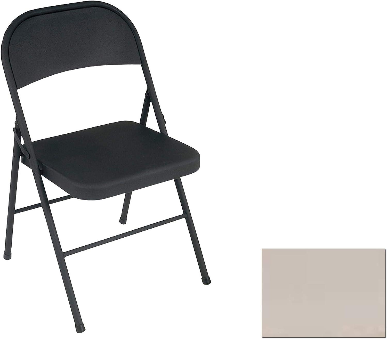 Cosco Chaise Pliante x 4, Acier, Noir, Paquet de 4, 4 Pack