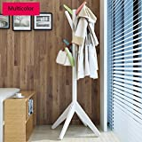 Creative Solid Wood Coat & Hat Stand Floor Hangers Simple Modern Household Bedroom Living Room Coat Hat Rack(60170cm, Color Optional) (Color : Multicolor)