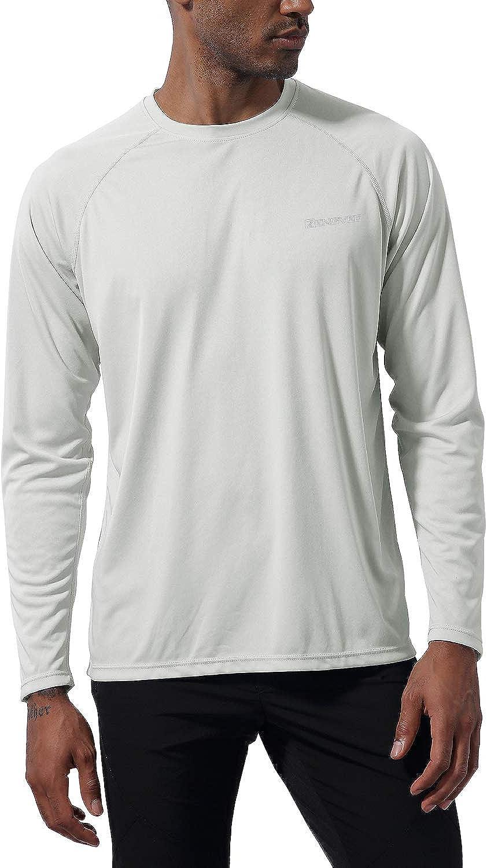 UV Sun Protection Outdoor Long Sleeve Performance T-Shirts for Hiking,Running,Rashguard 1994Fashion Mens UPF50