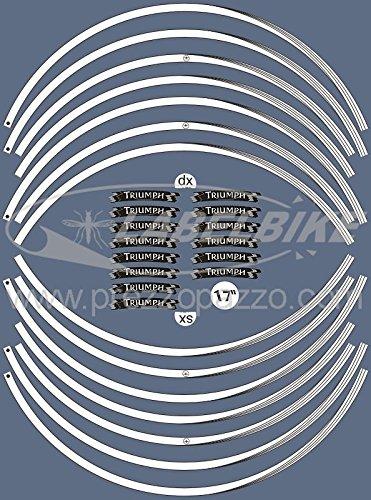 STRISCE ADESIVE compatibili per MOTO TRIUMPH adesivi CERCHI 17 stickers tuning