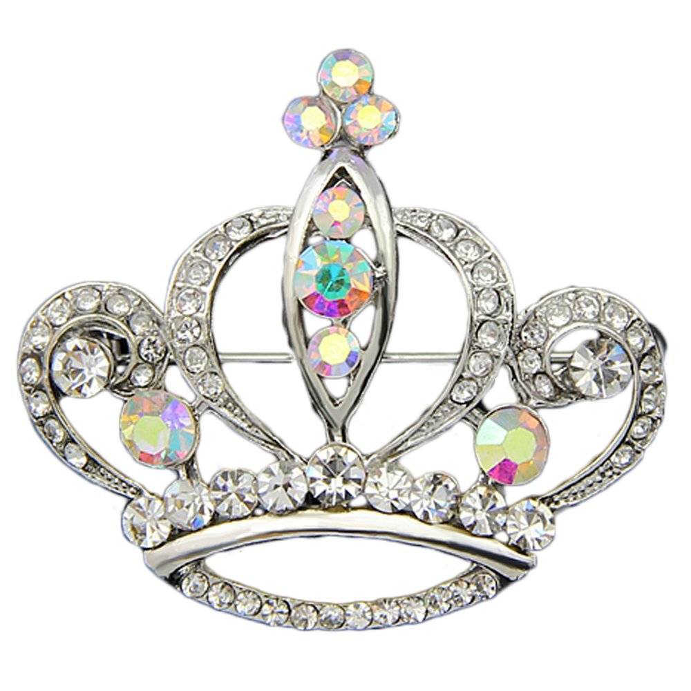 Danbihuabi Silver/gold Plated Imperial Crown Brooch for Lady Danrun jewelry