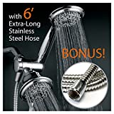Dual Shower Head Combo HotelSpa 30-Setting Dual Shower Heads Combo includes Overhead Showerhead and Handshower  3-Way Water Diverter with Angle-Adjustable Bracket  Extra Long 6 ft. Stainless Steel Shower Hose