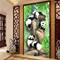 Amazhen Silk Mural Custom 3D Large Photo Wallpaper Mural 3D Chinese Panda Bamboo Forest Living Room Child Bedroom Tv Background Wall Decor Murals