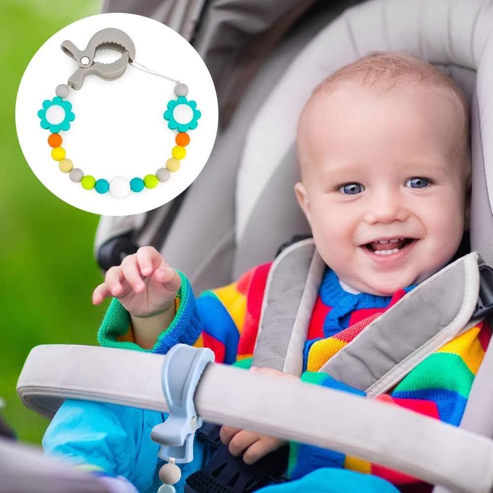 Azul Pastel, 6 Pcs Mixto clips para asientos de coche o mantas 6 Pinzas carrito bebe ganchos para cochecito LAT clips para muselina y juguetes, RUBY