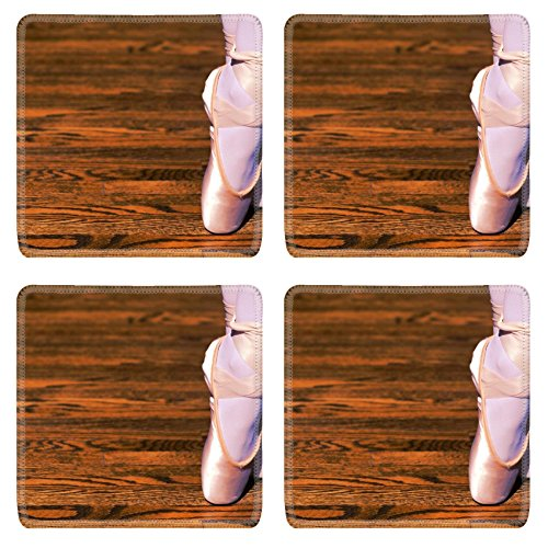 Liili Square Coasters Ballet pointe shoe - Dancing Squares Natural Shopping Results