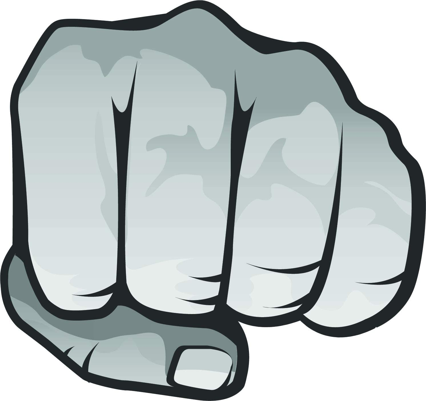 Amazon Com Simple Punch Fist Pound Cartoon Hand Emoji Vinyl Sticker Black And White Left Fist Automotive
