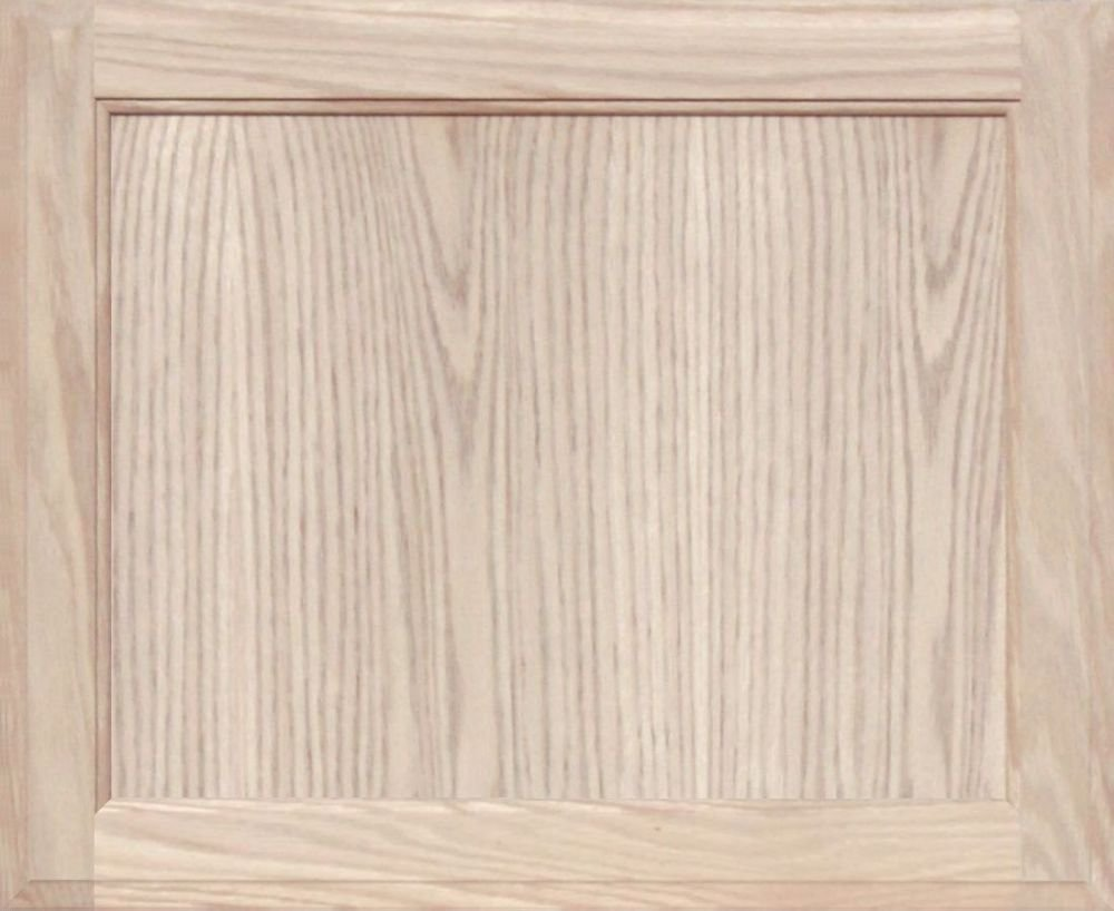 Unfinished Oak Square Flat Panel Cabinet Door By Kendor 18h X 22w