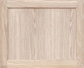 Unfinished Oak Square Flat Panel Cabinet Door By Kendor, 18H X 22W