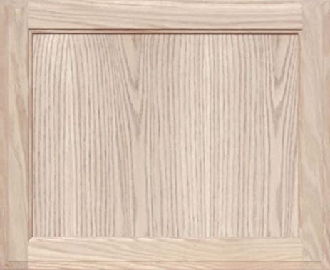 Unfinished Oak Square Flat Panel Cabinet Door by Kendor, 18H x 22W ...