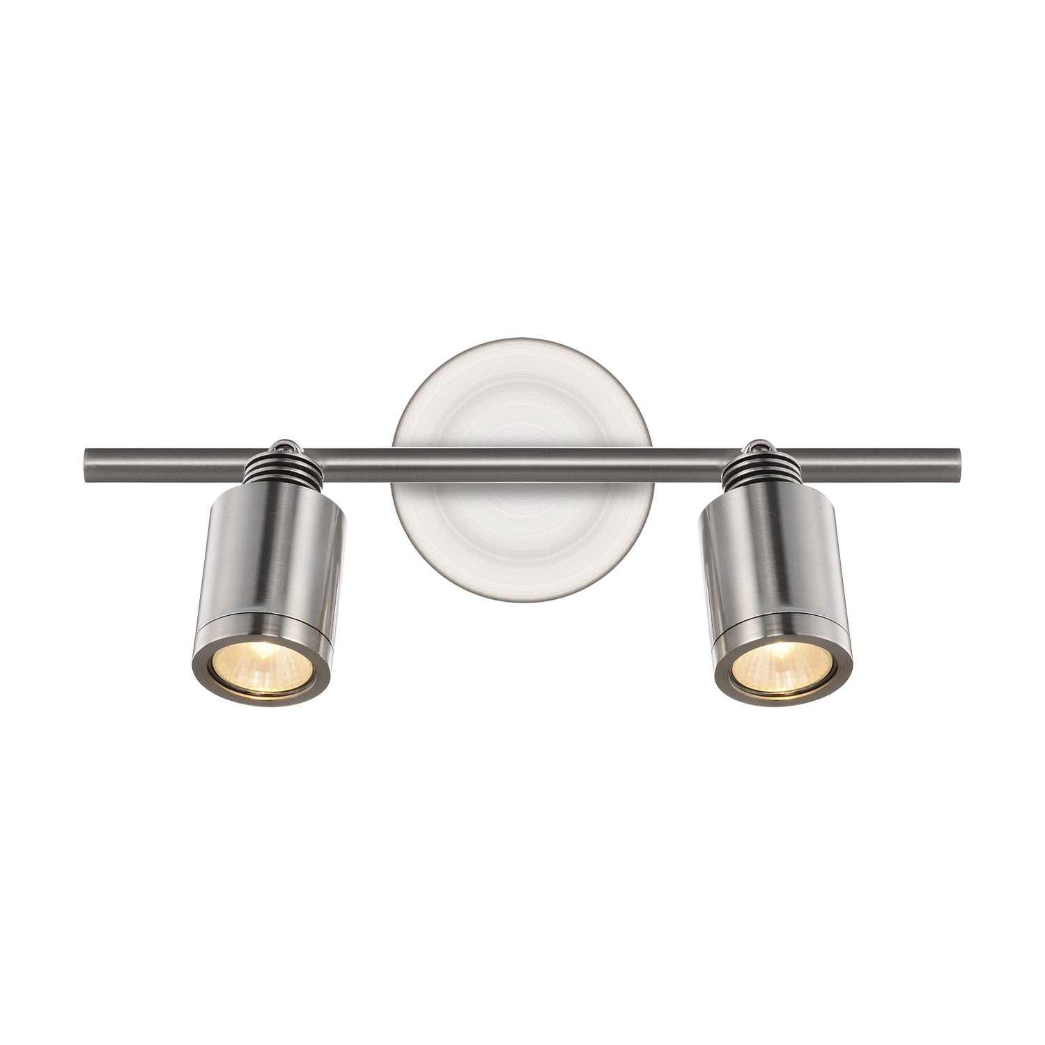 Radionic Hi Tech K_TKL_8823 Cassie 2 Light Brushed Nickel Track Light, 15''