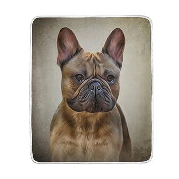 Mydaily Zeichnen Hund Französische Bulldogge überwurf Decke Weich