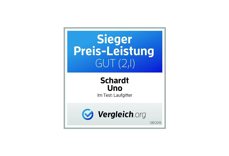 Schardt 02 02 02 019 00 00 077 Laufgitter Uno Buche, Dessin Sternchen, massiv naturbelassen, 75 x 100 cm, grau 13d6ae