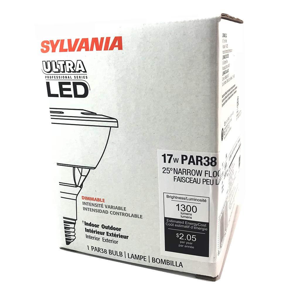 (Case of 6) Sylvania 78478 - LED17PAR38/PRO/835/NFL25/P3 17-Watt PAR38 3500K LED Dimmable 25? Flood Light Bulb - - Amazon.com