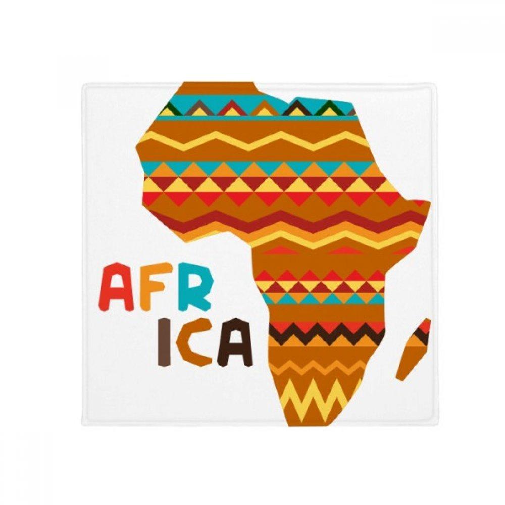 DIYthinker Africa Fancy Map Characters Stripes Anti-Slip Floor Pet Mat Square Home Kitchen Door 80Cm Gift
