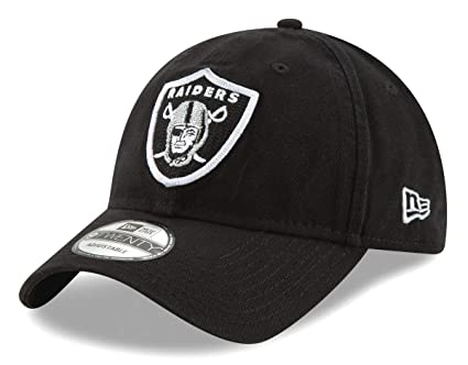 8fa9176f1ef3c6 Image Unavailable. Image not available for. Color: New Era Oakland Raiders  NFL 9Twenty Logo Stitcher Adjustable Hat