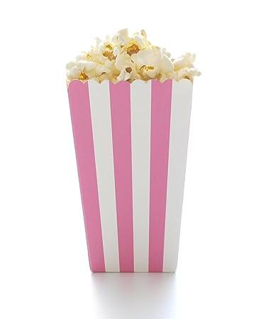 pink stripe popcorn boxes hot pink 12 pack girl baby shower favors