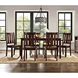 Better Homes and Gardens Solid Wood and Veneer Construction 7-Piece DIning Table Set in Espresso