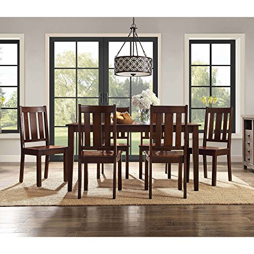 Better Homes and Gardens Solid Wood and Veneer Construction 7-Piece DIning Table Set in Espresso by Better Homes & Gardens BH44-084-399-04