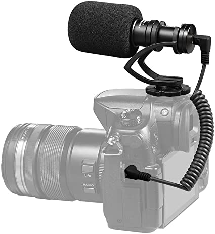 allcaca Mini micrófono de cámara de vídeo profesional Micrófono ...