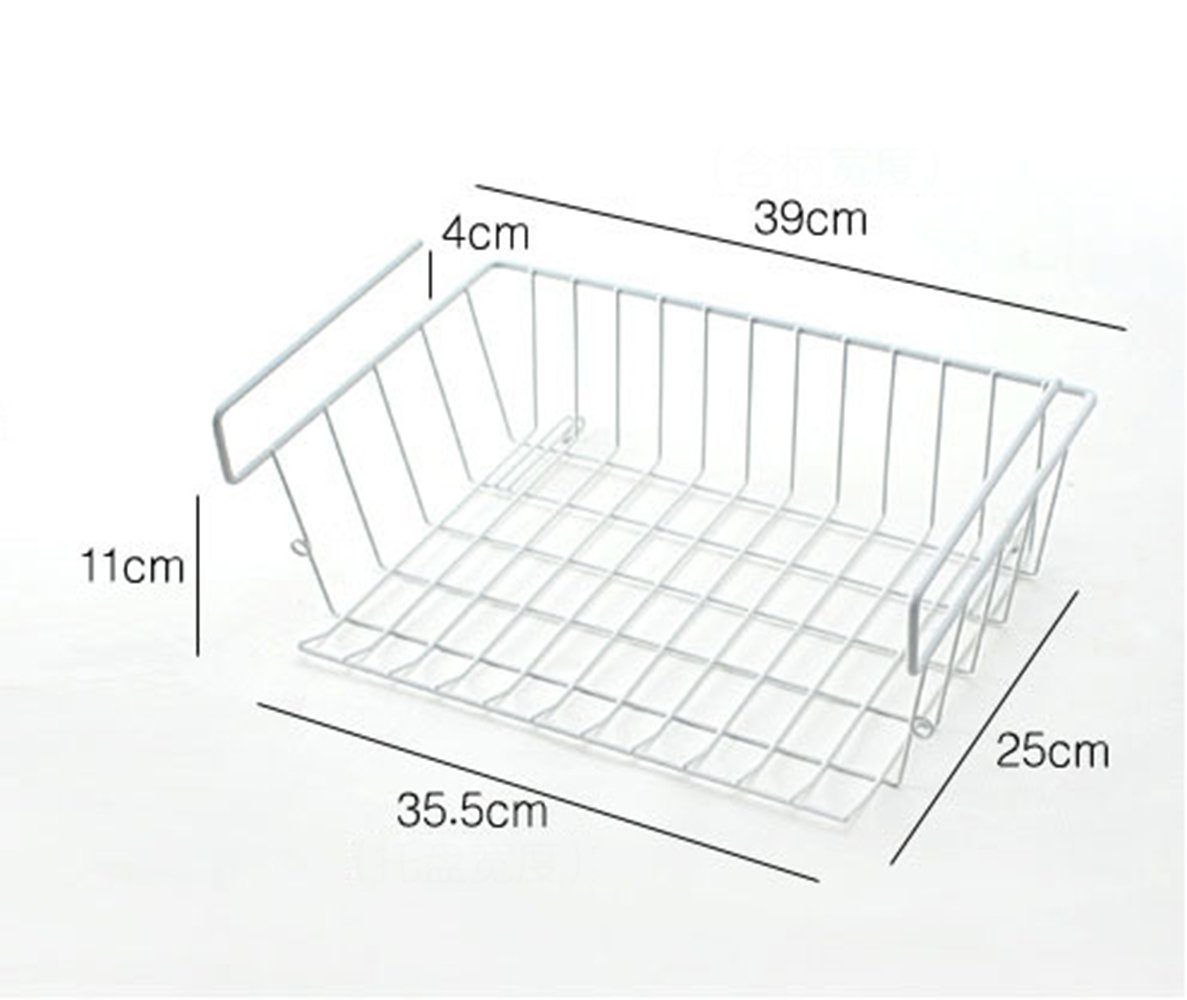 Addfun reg;Under Shelf Hanging Wire Storage Basket for Kitchen Cabinets,Wardrobe,Desk (Pack of 1) Fandy Life