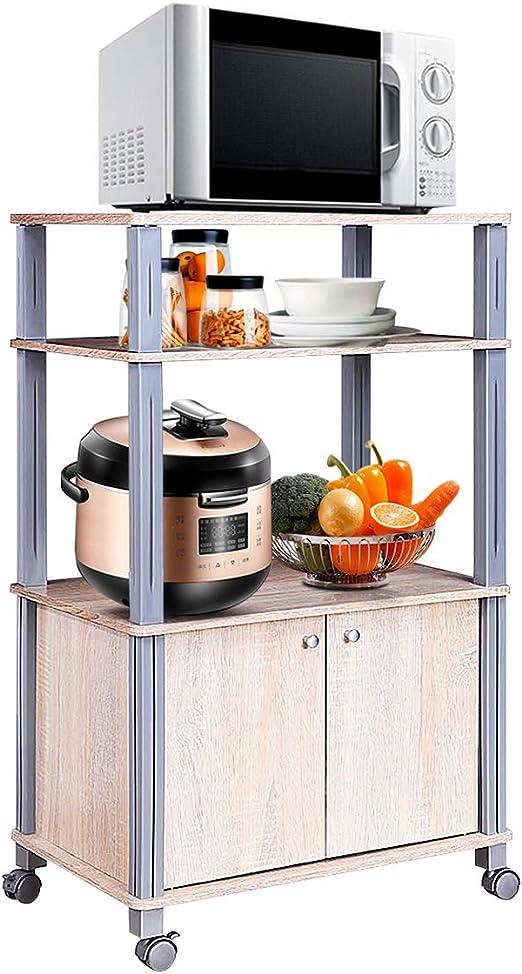 COSTWAY Carrito de Cocina Soporte para Microondas y Horno con ...