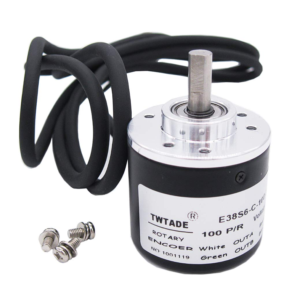 6mm Shaft 360P//R Incremental Rotary Encoder AB 2-Phase DC5-24V