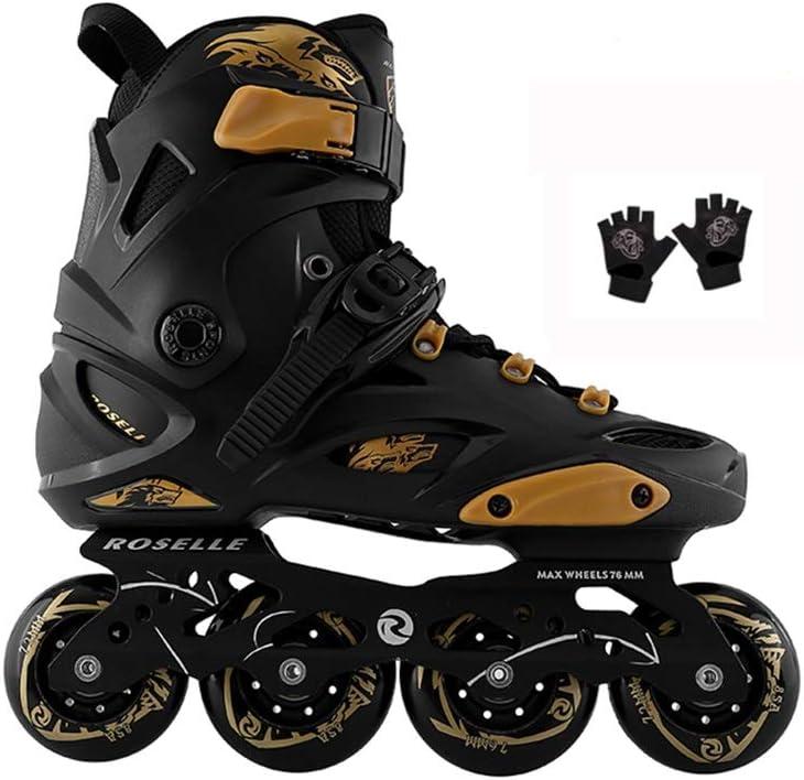 ローラースケート靴インライン初心者アウトドアフラッシュレーシングスケート大人用メンズレディースローラーブレードホワイト/ブラック (Color : C, Size : EU 42/US 9/UK 8/JP 26cm) C EU 42/US 9/UK 8/JP 26cm