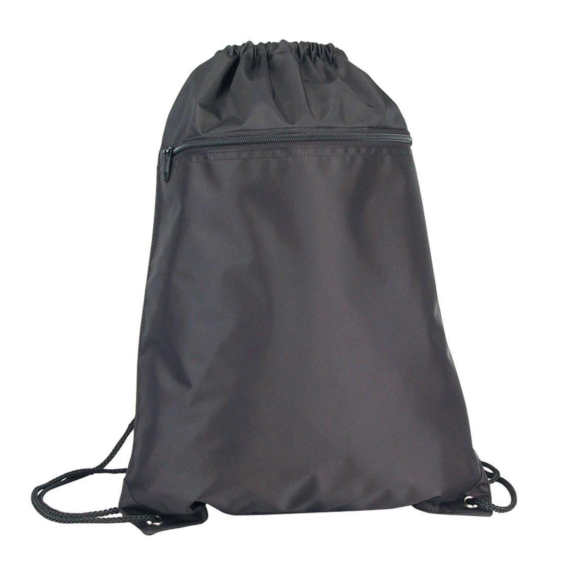 Drawstring Sack Bag, Gym Bag (Red, Yellow, Royal, Pink, Navy, Black) (Pack of 1 , Black)