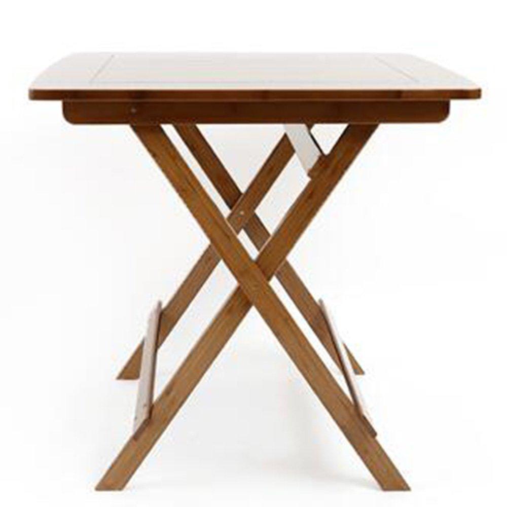 XIAOLIN レジャーテーブル折りたたみスクエアテーブルポータブル折り畳みテーブルダイニングテーブルバンブーテーブルシンプルスクエアテーブル小さな折り畳みテーブル竹折りたたみテーブル2色 (色 : 01, サイズ さいず : 60*60*59) B07D52C24Y 60*60*59|01 1 60*60*59