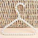 Bueer 3 Pack White Pearl Beads Metal Elegant Clothes Hangers For Kids Children Pet Dog