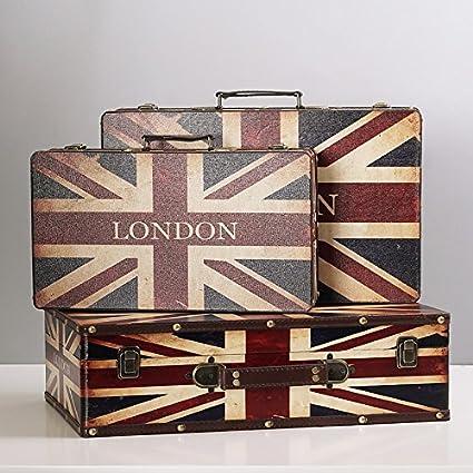 Powzz ornament Cajas De Madera Antiguas, Maletas De Estilo Europeo, Muebles para El Hogar