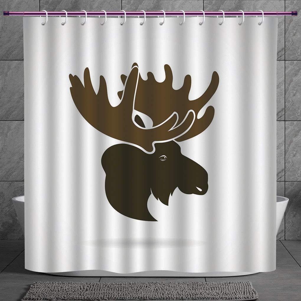 Stylish Shower Curtain 4.4 [ Moose Decor,Deer Head Canadian Sacred