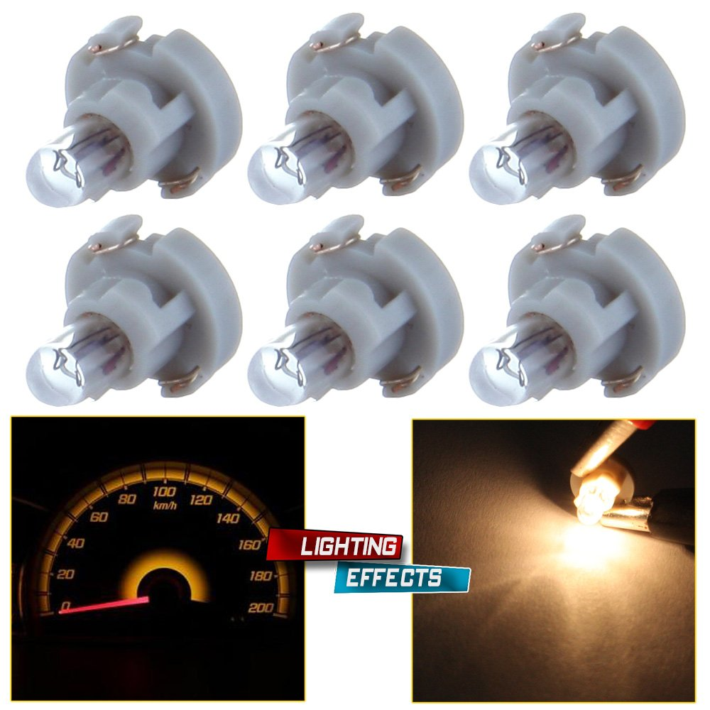 cciyu 6 Pack Warm White T3 Neo Wedge Halogen Bulb Replacement fit for A//C Climate Control Light 12V