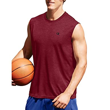 8443fa21b10c2 Champion Men s Double Dry Mesh Texture Muscle Tee at Amazon Men s Clothing  store