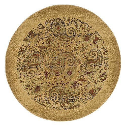 Safavieh Lyndhurst Collection LNH224A Traditional Paisley Beige and Multi Round Area Rug (7' Diameter)