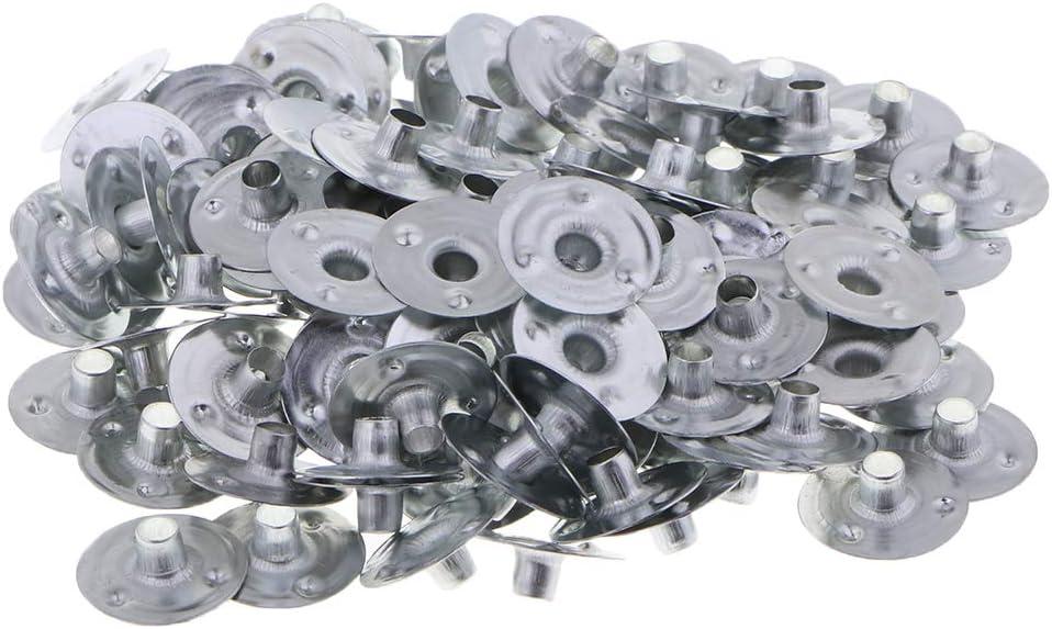 Argent T TOOYFUL 100pcs Supports pour M/èche Bougies Artisanat DIY 12.5x3mm