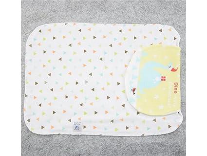 PanpA Suave Dibujos animados de impresión sudor absorbente toalla gasa sudor absorbiendo toalla para bebé recién