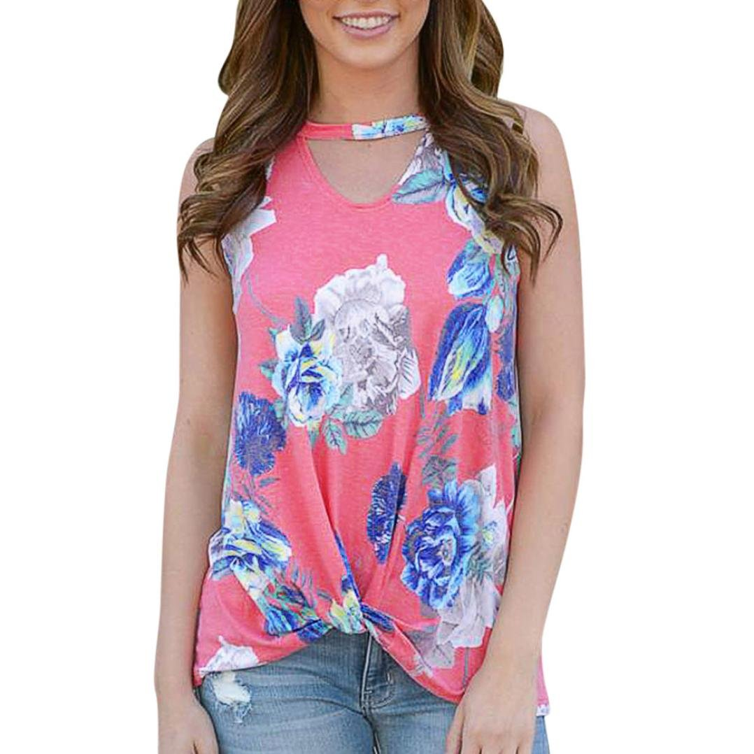 Amazon.com: Tank Tops, FORUU Womens Casual Floral Printed Keyhole Cutout Neckline Cami Vest: Clothing