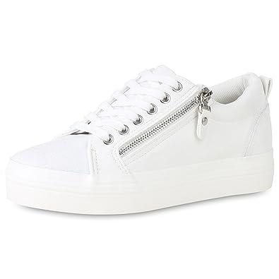 cheap for discount aba55 10875 SCARPE VITA Damen Plateau Sneaker Zipper Glitzer: Amazon.de ...