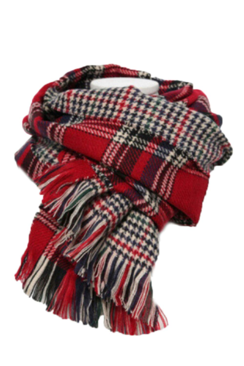 Pink Queen Unisex Womens Mens Classic Houndstooth Plaid Scarves PSR0011GR