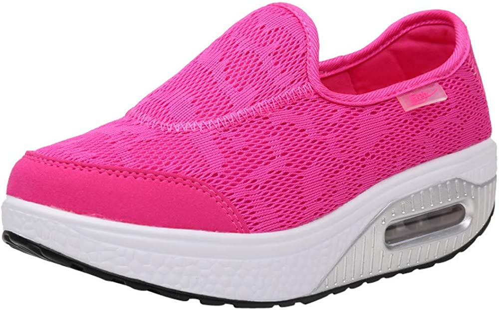 Qingsiy Zapatillas Deportivas de Mujer Gimnasio Fitness Correr Ligero Comodos Respirable Zapatos Deportivos Casuales de Malla para Mujer Zapatillas con amortiguación de Suela Gruesa: Amazon.es: Ropa y accesorios