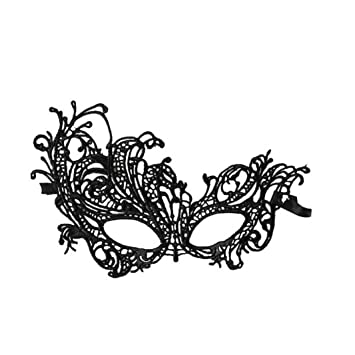 82387da5e0f1 Image Unavailable. Image not available for. Color: Iuhan® Fashion 1PC Sexy  Lace Eye Mask Venetian Masquerade Ball Party Fancy Dress Costume