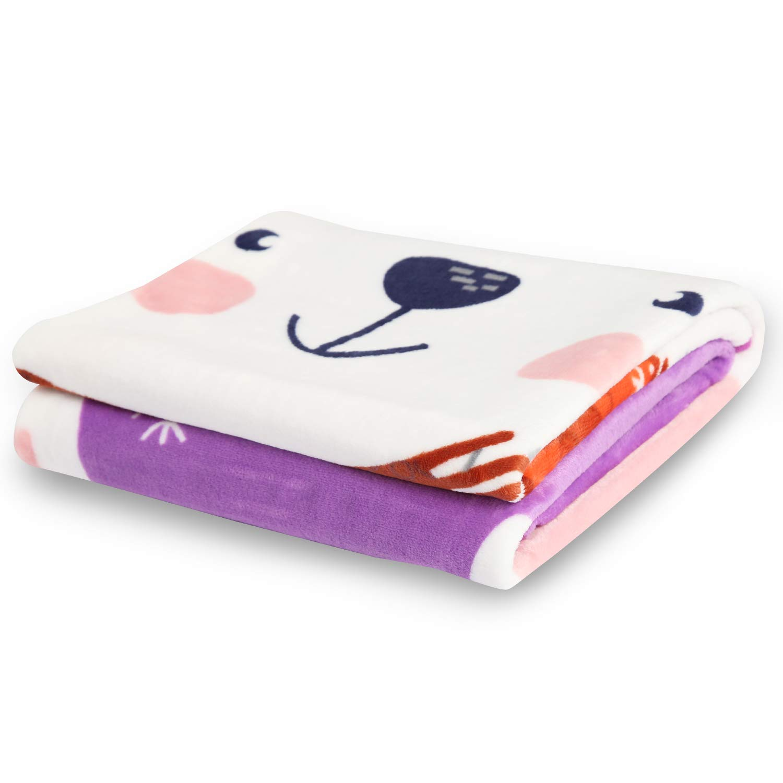 Overized Lightweight Flannel Daycare Nap Blanket//Kids Sleeping//Tummy Time Blanket 39x55 Gray Deer TILLYOU Micro-Fleece Plush Soft Baby Blanket Allergy-Free Fluffy Warm Toddler Bed//Crib Blanket