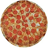 Round Towel Co. Pizza Round Beach Towel 100% Cotton Roundie Circle Blanket Foodie Gigantic Pepperoni Pizza Terry Cloth Beach Towel