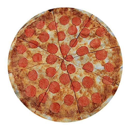 Amazon.com: Round Towel Co. Pizza Round Beach Towel 100% Cotton Roundie Circle Blanket Foodie Gigantic Pepperoni Pizza Terry Cloth Beach Towel: Home & ...