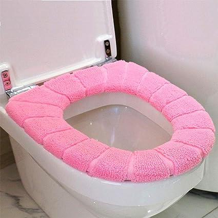 Toilet Seat Covers Amazon.Amazon Com Ocamo Cotton Fuzzy Soft Winter Toilet Seat
