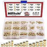 Hilitchi 250-Pcs M2/M3/M4 Female Thread Brass Knurled Threaded Insert Embedment Nuts Assortment Kit