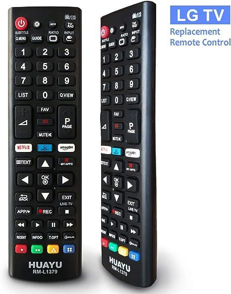 Mando a Distancia de Repuesto Compatible para LG Smart LCD LED TV (LG): Amazon.es: Electrónica